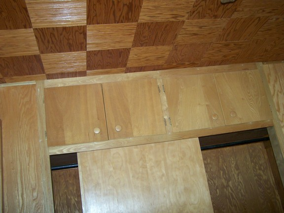 Ceiling of wood room